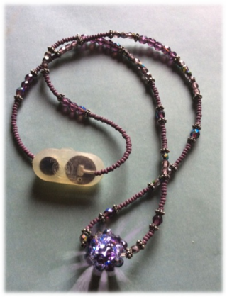 BEADED BEAD LED NECKLACE