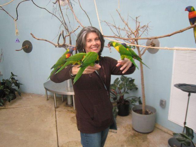 Jill loves the birdies