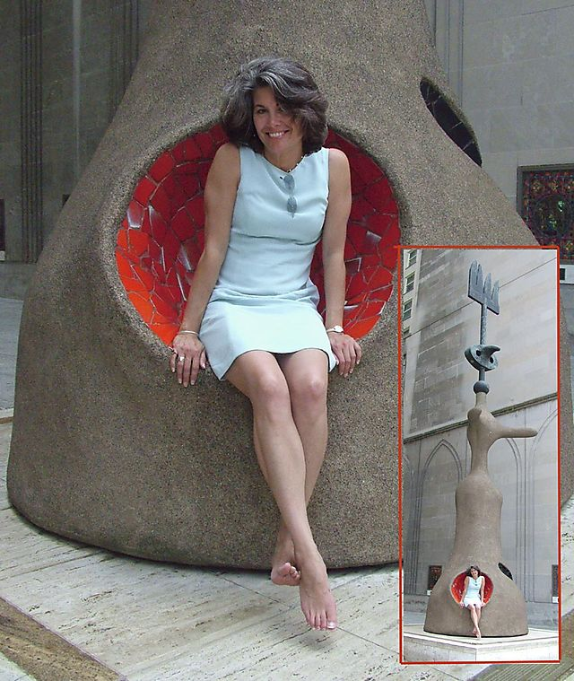 Jill in Miro's Sculpture