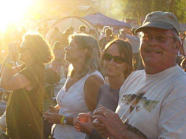 Festival at sunset