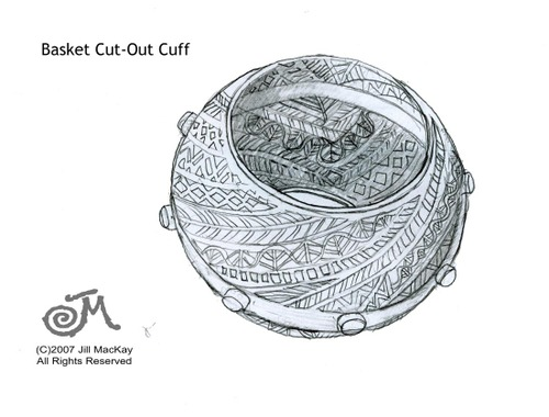 Basket Bangle rough sketch