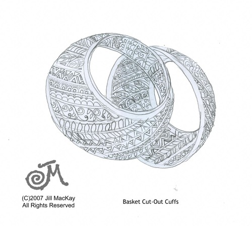 Basket Bangles II,  Rough Sketch