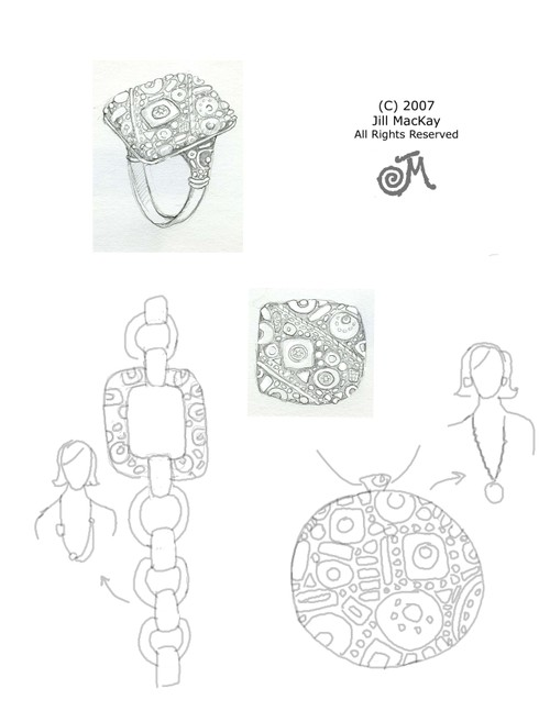 Mosaic Ring & More Sketch
